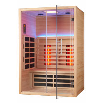 Dr. Hermann Private-Spa Infrarot-Kabine mit Lighttherapie ROYAL60-Karbon